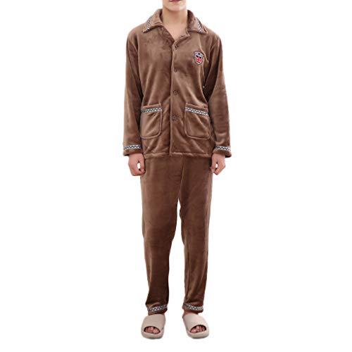 Amphia - Herren Nachthemd - Herbst Winter Pyjamas -