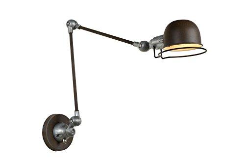 Lucide Honore-Lámpara de pared-color óxido, metal, rust braun, E14, 40 wattsW, 230 voltsV