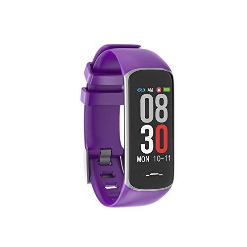 TaStone Fitness-Tracker für Damen, mit Farbdisplay und Herzfrequenz-Monitor, wasserdicht, Aktivitätstracker mit Blutdruck, Schlafüberwachung, Kalorienzähler, Schrittzähler für iOS Android B2,Purple (Ios-8-blutdruck-monitor)