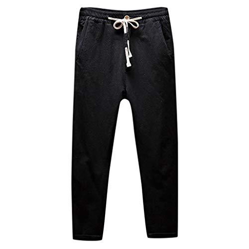 ☀NnuoeN☀ Pantaloni Sportivi da Uomo Pantaloni Casual Pantaloni Sport Pantaloni Tasche Strappato Stretti Caviglia Elasticizzati Lavoro Elegante Sportivo Pantaloni Casual