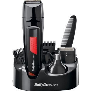 Rechargeable BaByliss for Men 7056DU Titanium Grooming Kit Cordless Use
