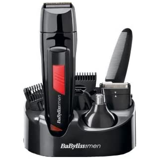 Governare BaByliss for Men 7056DU Titanium Grooming Kit With Moustache Comb