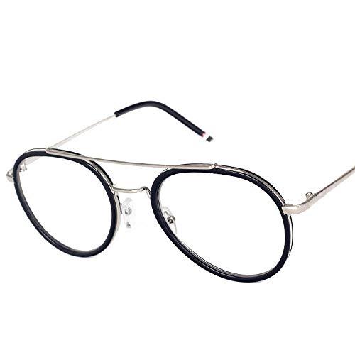WULE-RYP Polarisierte Sonnenbrille mit UV-Schutz Runde Flache Spiegelglas Kröte Brillengestell für Frauen. Superleichtes Rahmen-Fischen, das Golf fährt (Farbe : Black Frame -Black)