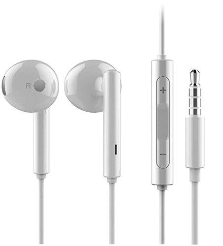 Original Huawei Headset AM-115 in weiß für Huawei Ascend P9 / P8 / P7 / P6 / lite / Mini / Mate 8 / Mate 7 / Mate S Kopfhörer mit Lautstärkeregler und Micro Original Kopfhörer