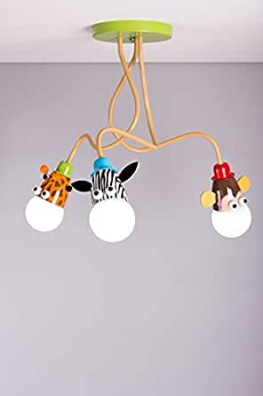 Lampadario da soffitto per bambini unisex ideale per illuminare la cameretta motivo giraffa - Lampadari ikea bambini ...
