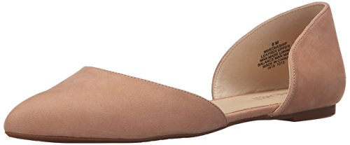 Nine West Starship Cuir Chaussure Plate Lt Natural