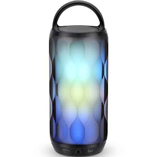 Bluetooth Lautsprecher Musikbox Bluetooth Box LED Tragbar Farbenfroh Kabellos mit Freisprechmikrofon für Handy und PC Mikro-SD/TF und Aux MUBYTREE Verpackung MEHRWEG