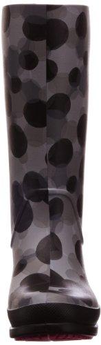Crocs Wellie Polka Dot Print Boot, Damen Stiefel Grau (Smoke/Black)