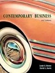 Contemporary Business: 1997 Edition