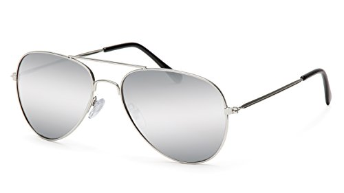 Filtral Pilotenbrille/Silber verspiegelte Aviator Style Sonnenbrille mit leichtem Metallrahmen F3022909
