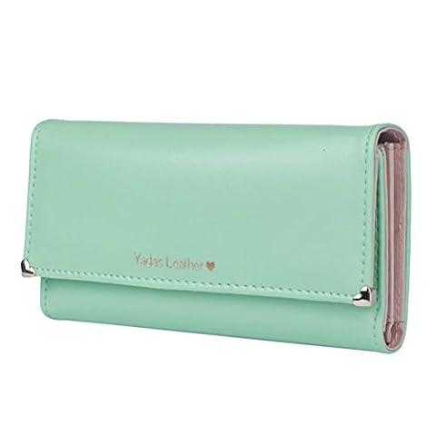 Sannysis Damen-lange Portemonnaie Kreditkarteninhaber Taschen Geschenk (Freie Größe, Grün)
