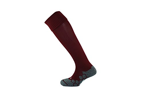 Mitre Division Plain Football Socks - Maroon, Size 3 - 6