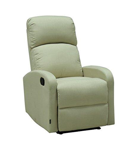 Astan Hogar Confort Plus Sillón Relax con Reclinación Manual, Poliuretano, Crema, Compacto