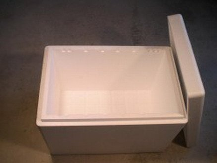 100 Liter 3XL Isolier-Box - 720 x 480 x 300 mm - Styropor Box, Wandstärke 30 mm