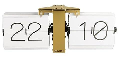 Karlsson KA5601WH No Case Horloge Murale Métal Blanc 8.5 x 36 x 14 cm
