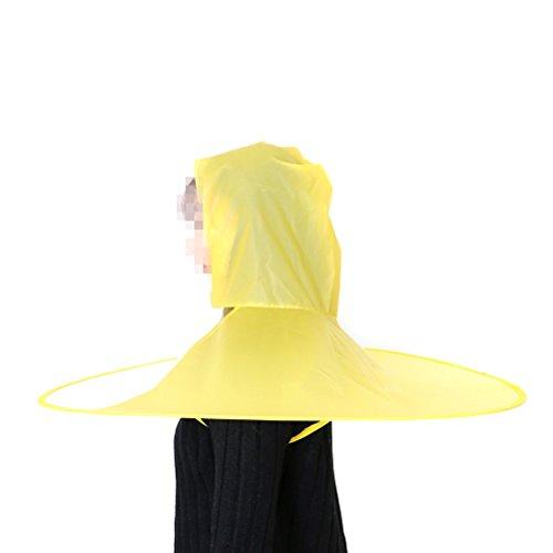 yixuan Hände frei Regenschirm, leichtes & faltbar Regenmantel, Regen Mantel, Hut Cap für Kinder Damen Herren Bauern Angeln, Stil 1 (Hut Mantel, Regenschirm)