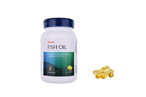 GNC Fish Oil - 1000 - Nahrungsergänzungsmittel, Lemon 90 Softgels - Gesundheit aus dem Meer -