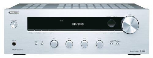 Onkyo TX-8020 (S) Stereo-Receiver (90 Watt, Direktmodus, 3-Digital/5-Analogeingänge, Phono, RDS UKW/MW-Tuner) Silber