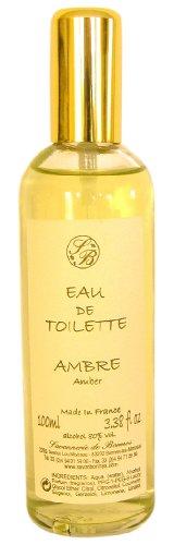 Savonnerie de Bormes : Eau de Toilette Amber (Ambre), flacon de 100 ml avec vaporisateur (Spray)