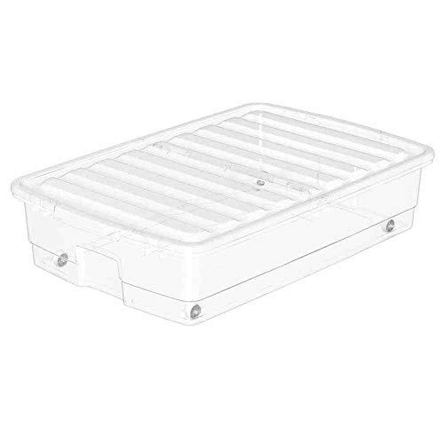 Orthex Unterbettbox, Plastik, Weiß, 76 x 51 x 18 cm