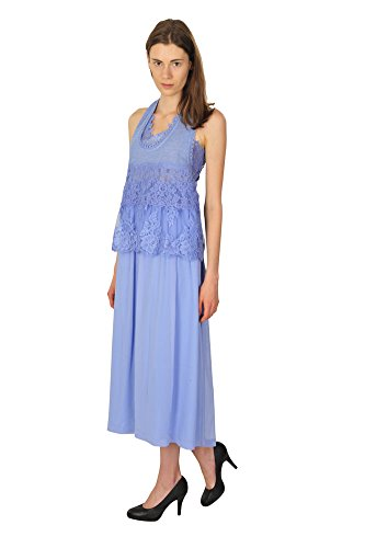 ermanno-scervino-dress-women-light-blue-plain
