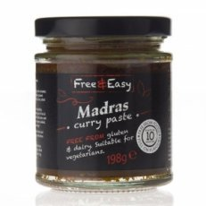 Free & Easy Gluten Free Madras Curry Paste 198g
