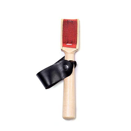 DoGeek- Cepillo Zapatos con Protector de Cuero Negrocepillo para Zapatos de Baile (mango de madera)