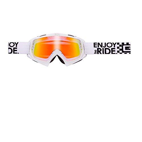 O'Neal B-Flex Brille verspiegeltLAUNCH Weiß Radium Moto Cross Downhill Enduro Motorrad, 6024BL-201