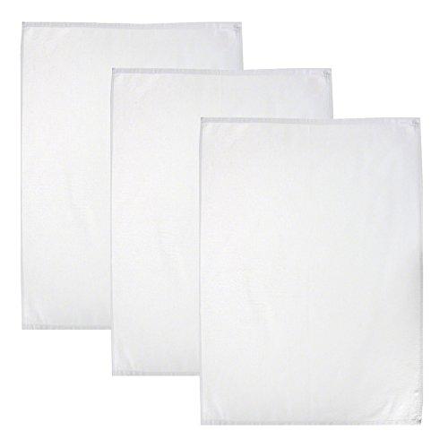 Geschirrtuch weiß 50x70 cm   100% Baumwolle Trockentuch Küchentuch Serviertuch Gastronomiebedarf , Stückzahl:3 Stück