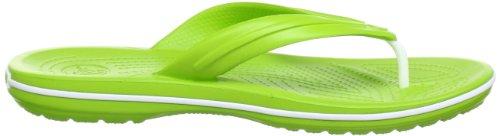 Crocs Band Flp, Tongs - Mixte adulte Vert (Volt Green/White)