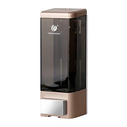 DKEyinx 500ml Wandbefestigung Bad Seifenspender, Aussehendes Elegantes, Flüssigkeit Seife Waschmittel Dusche Shampoo Flasche, Bad Container Spender Golden