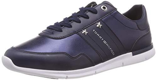 Tommy Hilfiger Damen Tommy Essential Leather Sneaker, Blau Navy 406, 37 EU
