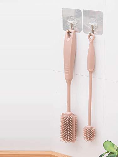 NiNnn Küche, Haushalt & WohnenKüche Langen Griff Silikon Waschflasche Artefakt Pinsel Tasse Pinsel Reinigungsbürste Tasse Pinsel tragbare Milchtopf kleinen Satz (Pulls Tasse Küche)