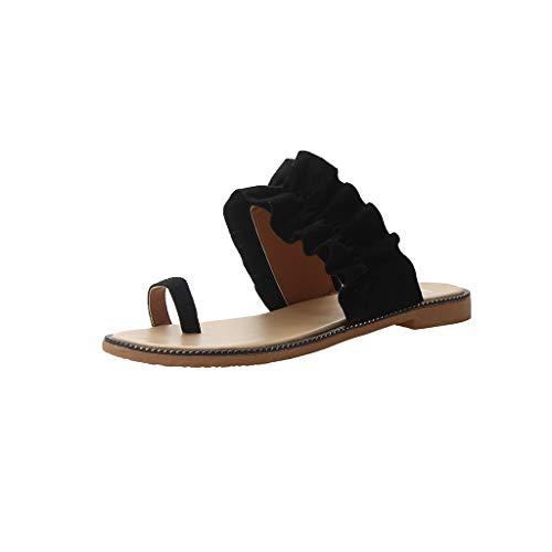 WWricotta Damen Bequeme Sandal Sommer Strand Schuhe Flach Flip Flops Zehentrenner Hausschuhe Strand Reise Schuhe Badeschuhe Römische Schuhe