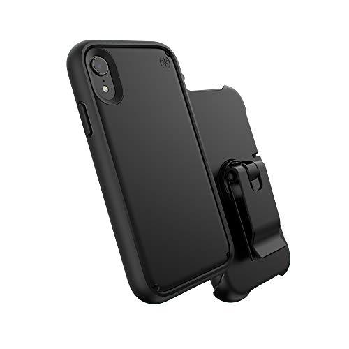 Speck iPhone X Schutzhülle Handyhülle mit Abnehmbarem Ultra Grip Bumper Schützende Hülle Tasche Dünne Schale Hardcase Beständig für Apple iPhone X - Presidio Ultra - Schwarz