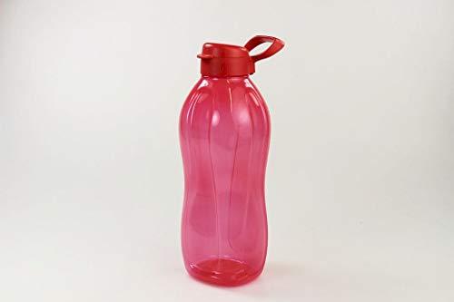 Tupperware to Go Eco 2 L rot + Halter Trinkflasche Clippverschluss Ökoflasche 33387