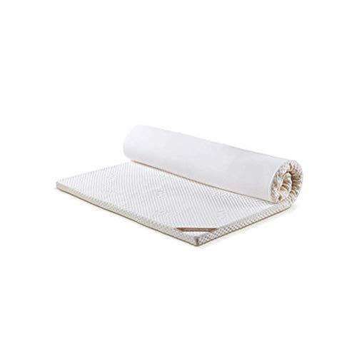90GJ Latexmatratze Memory Foam gepolstert Student Einzelschlafsaal Tatami Doppelhaushaltsmatte Komfort 7 Bereich PU Speicher Baumwolle Matratze 1,8 * 2,0 m (72 * 80 Zoll) -