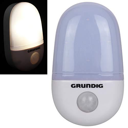 Grundig LED Lampe mit Bewegungsmelder Batteriebetrieben Nachtlicht warmweiß Licht Nachtlampe Leuchte