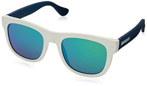 Havaianas Jungen PARATY/S Z9 QT1 Sonnenbrille, Weiß (White Blue/Grey), 48