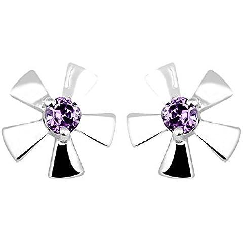 En Forma De Moda Elegante Creativo Plata Colgante De Cristal Magnolia Aretes Regalo Mujeres Niñas