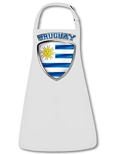 Uruguay Fan Delantal Delantal, delantal con cuello ajustable VERS. Colores golebros