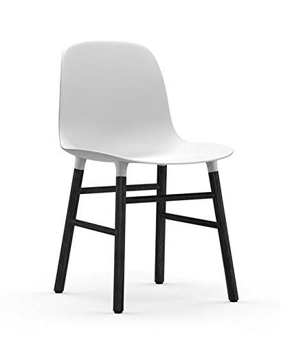 normann COPENHAGEN Form Stuhl Gestell schwarz (Sitz weiss