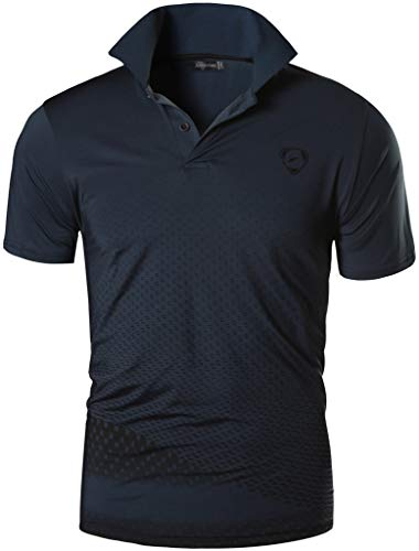 Jeansian uomo allenarsi sportivo poliestere asciugatura rapida camicie workout polo shirt t-shirts lsl195 gray xl