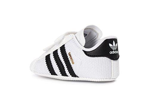 adidas Originals Unisex Baby Superstar Crib Krabbel-& Hausschuhe, Weiß FTWWHT/CBLACK/FTWWHT