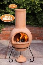 Large Mexican Clay Terracotta Chiminea Chimenea - Colima