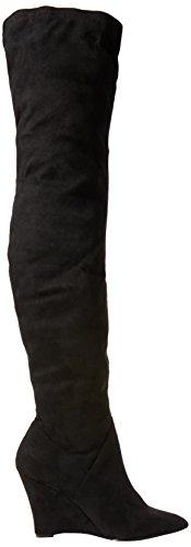 Carvela Wash Damen Langschaftstiefel mit Kaltfutter Schwarz