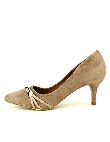 Cendriyon, Escarpin Taupe Jenni Chaussures Femme