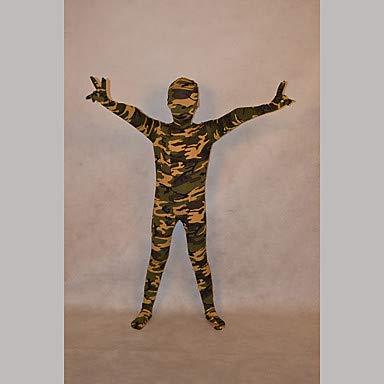 HAOBAO Zentai Anzüge Ninja Fest/Feiertage Halloween Kostüme Grün Druck Zentai Kostüme Kind Lycra, - Kinder Ninja Kostüm Muster