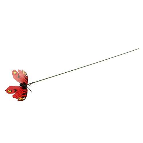 Colorata Farfalla Volare Sul Modello Di Bastone Casa Giardino A Prato Ornamento 7x5.5cm