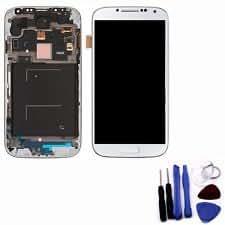 Vitre + LCD + chassis pré-monté blanc Samsung S4 mini i9195 d'origine